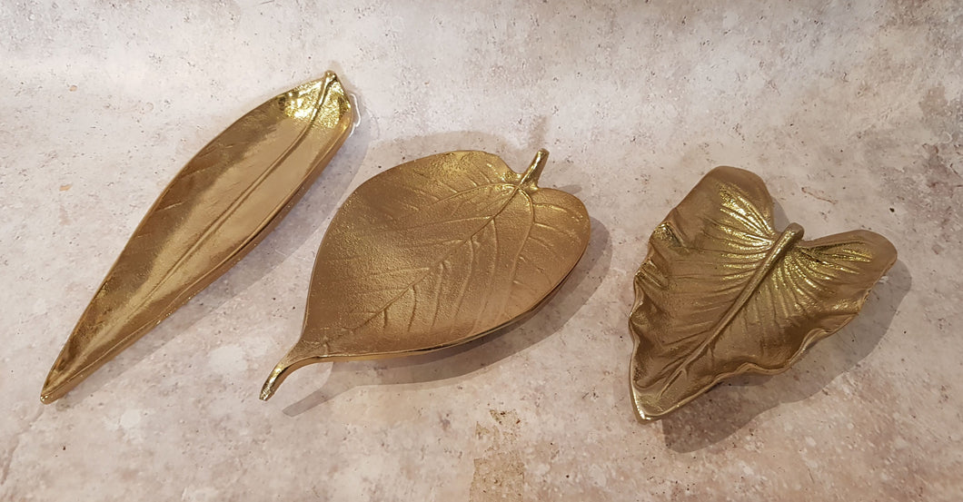 GOLD LEAF TRINKET DISHES