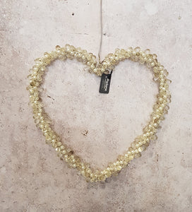 BEADED HANGING HEART DECORATION
