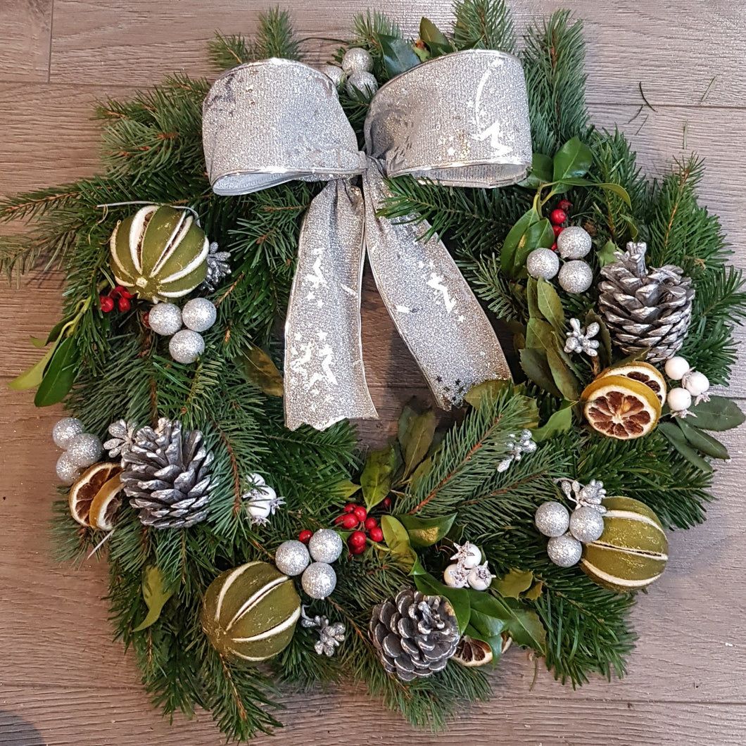 SILVER THEMED WREATH