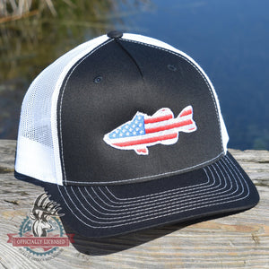 American Flag Large Mouth Bass Hat - Bucks of America