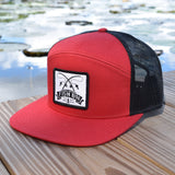Fish On Patch Red & Black Hat