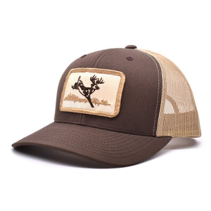 Deer Hunt Patch Brown & Khaki Hat