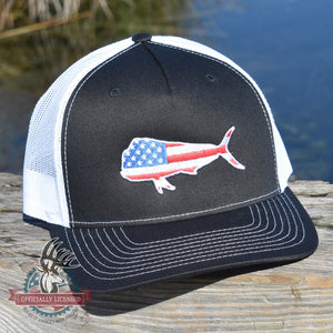 American Flag Mahi Mahi Hat - Bucks of America