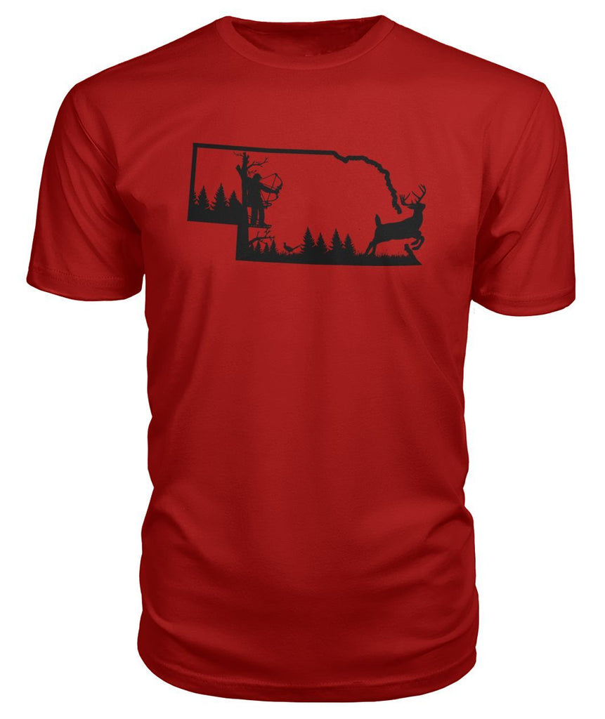 Nebraska Bow Hunter Scene Premium Tee