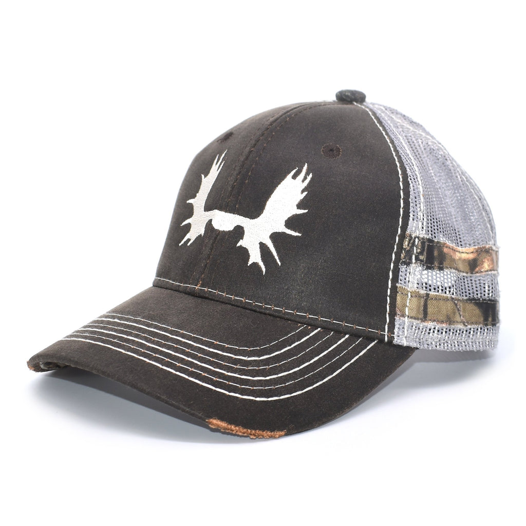 Brown Camo Sport Frayed Hat