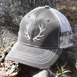 Brown Camo Caribou Sport Frayed Hat