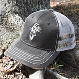 Brown Camo Bucks Sport Frayed Hat