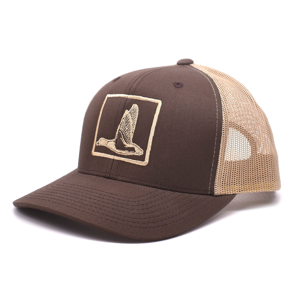 Duck Embroidered Brown & Khaki Hat