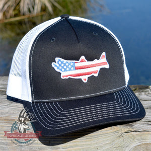 American Flag Salmon Hat - Bucks of America