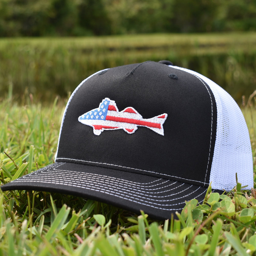 American Flag Walleye Hat - Bucks of America