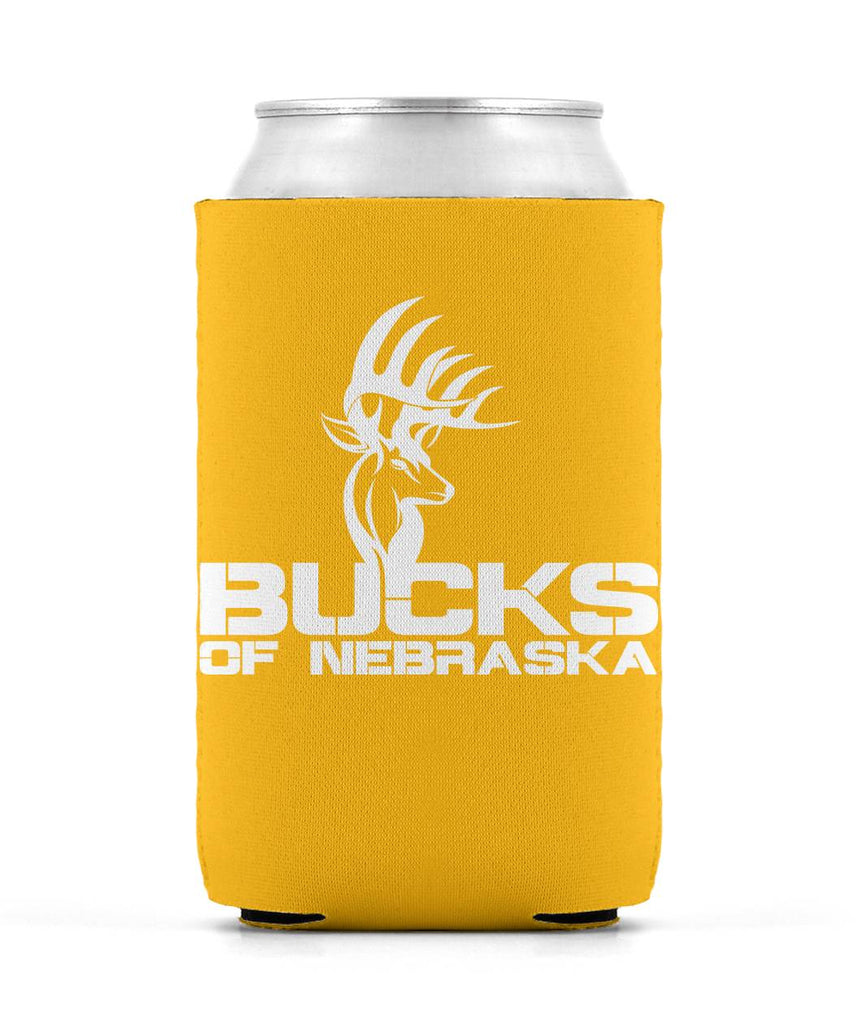 Bucks of Nebraska Deer Head Koozie