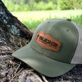Bucks Leather Patch Moss & Khaki Hat - Bucks of America