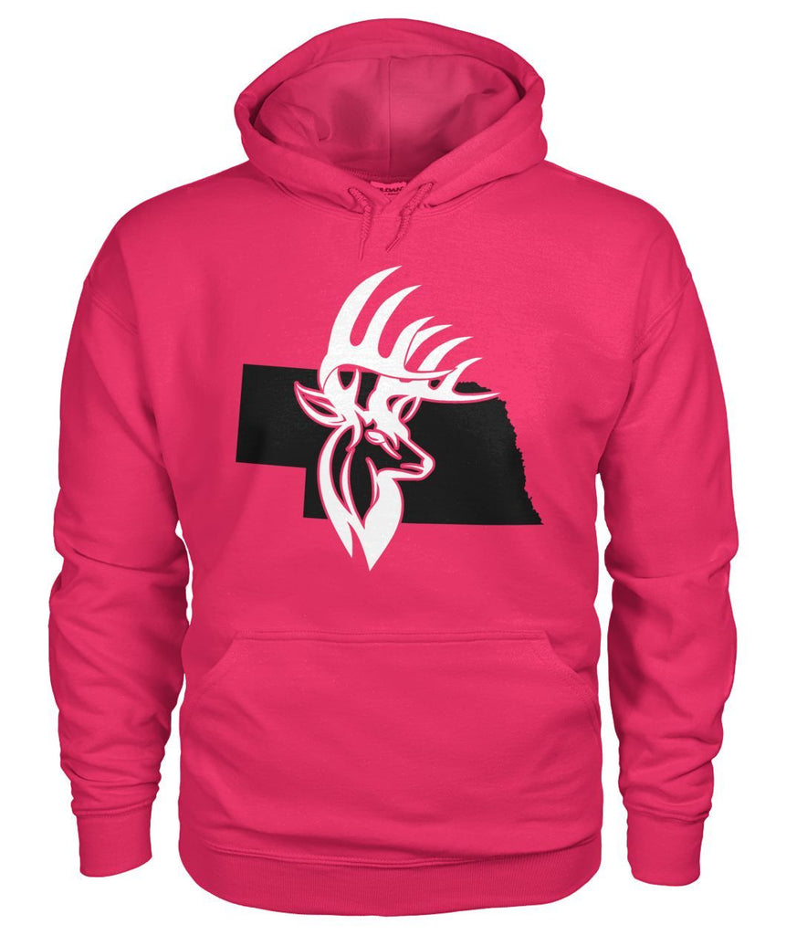 Bucks of Nebraska with Buck Head Gildan Hoodie - Bucks of America
