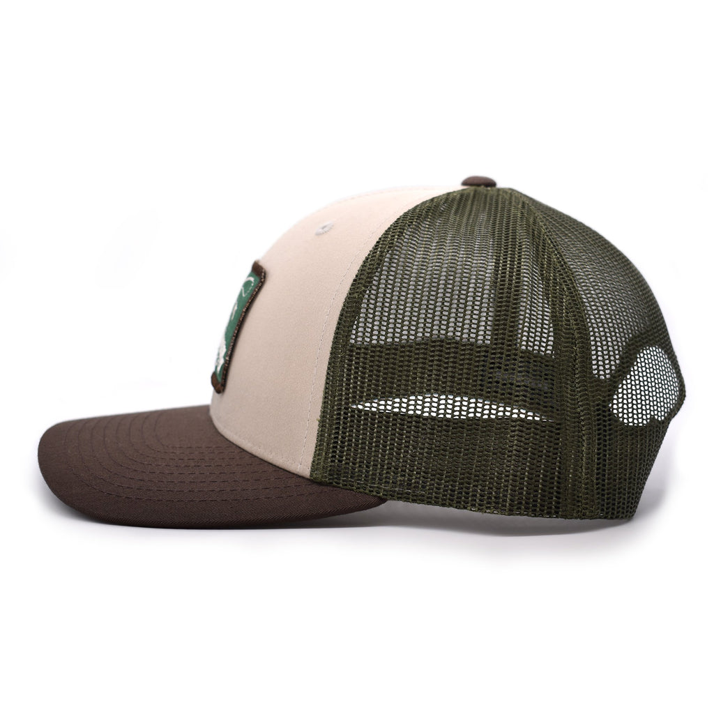 Fish On Patch Tan / Loden /  Brown Hat