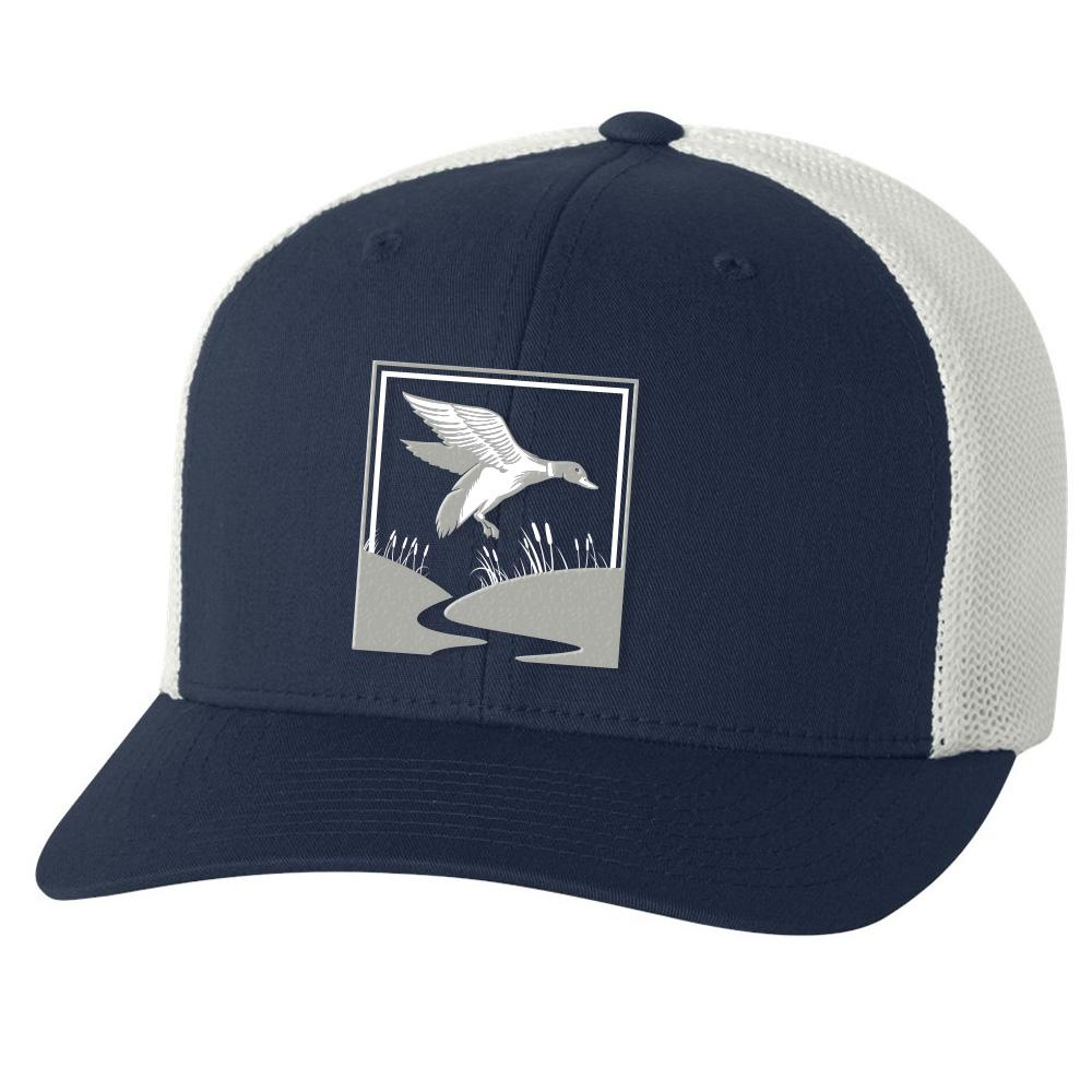 Duck Hunt Navy & White Hat