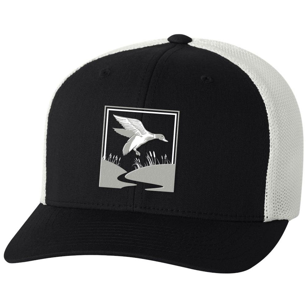 Duck Hunt Black & White Hat