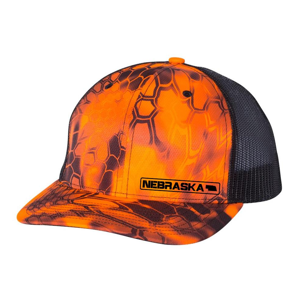 Nebraska State Hat - Inferno / Black