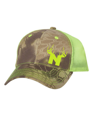 Bucks of Nebraska N Camo Cap Mesh Back - Bucks of America