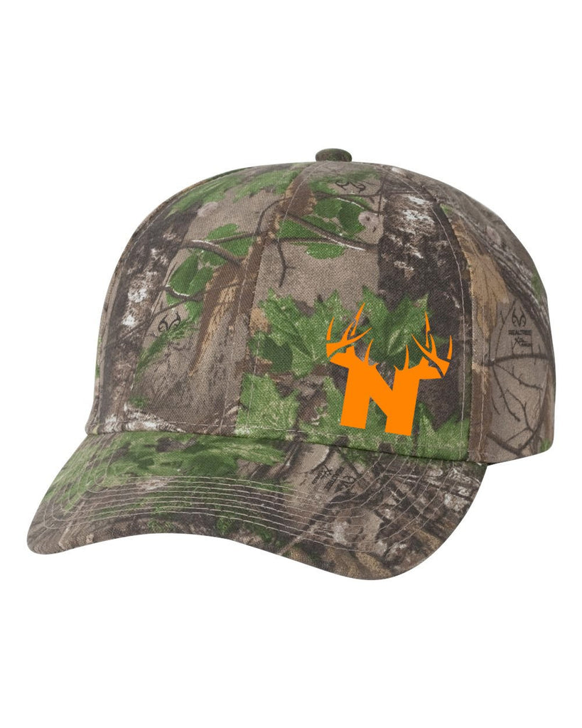 Bucks of Nebraska N Orange Logo Camo Cap - Bucks of America
