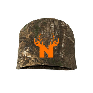 Bucks of Nebraska Antler Logo Realtree Camo Beanie - Bucks of America