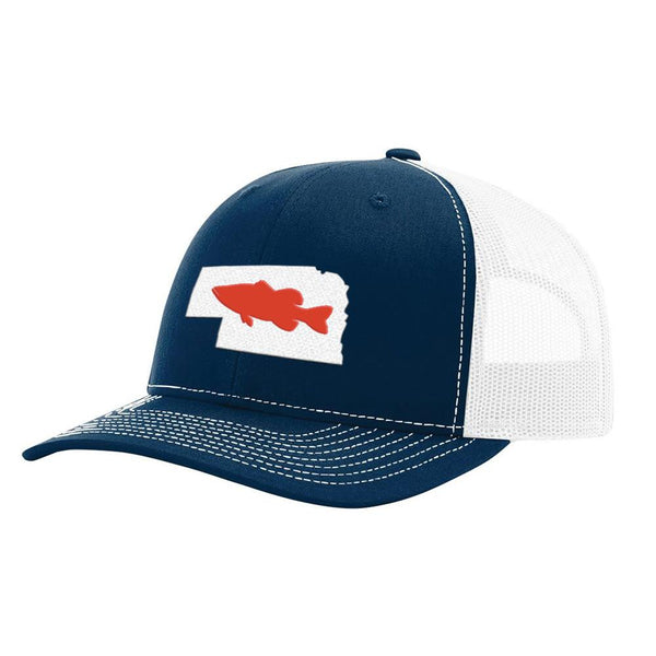 Nebraska Bass Hat - Navy/White - Bucks of America