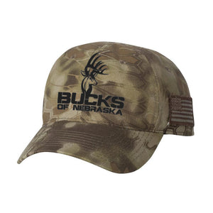 Bucks of Nebraska Full Logo Kryptek Hat - Bucks of America