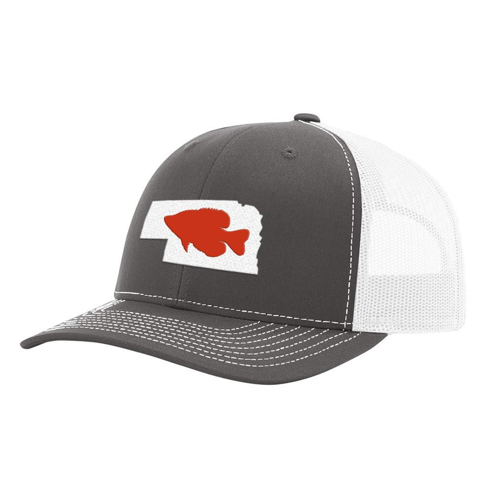 Nebraska Crappie Hat - Charcoal/White - Bucks of America