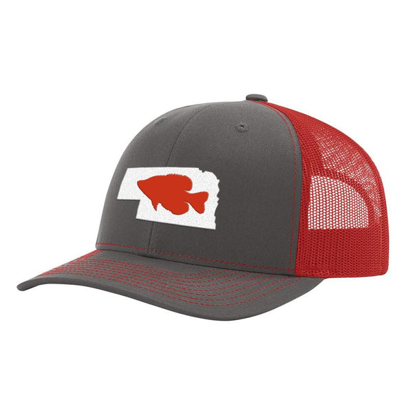 Nebraska Crappie Hat - Charcoal/Red - Bucks of America