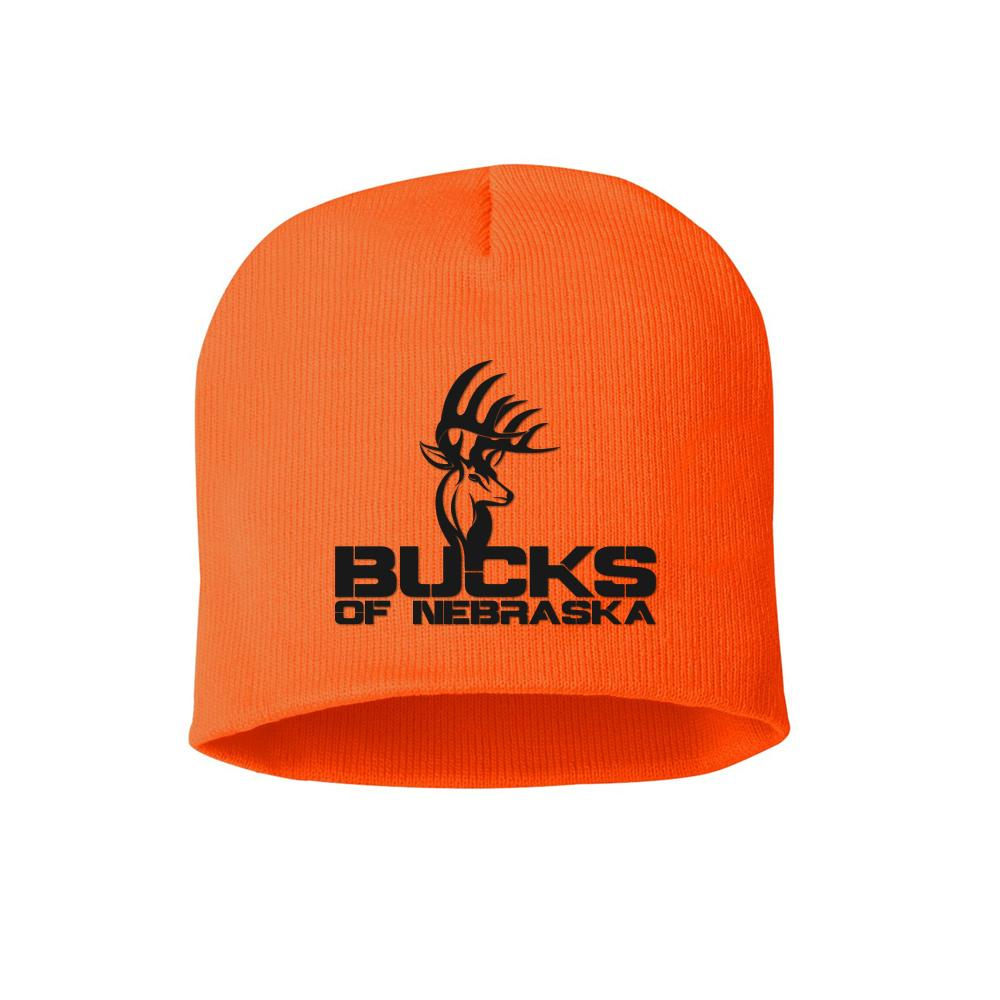 Bucks of Nebraska Full Logo Blaze Orange Beanie - Bucks of America
