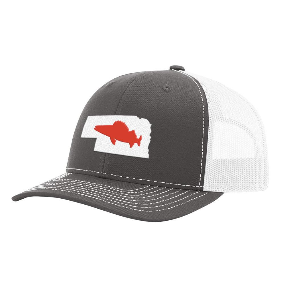 Nebraska Walleye Hat Charcoal/White - Bucks of America