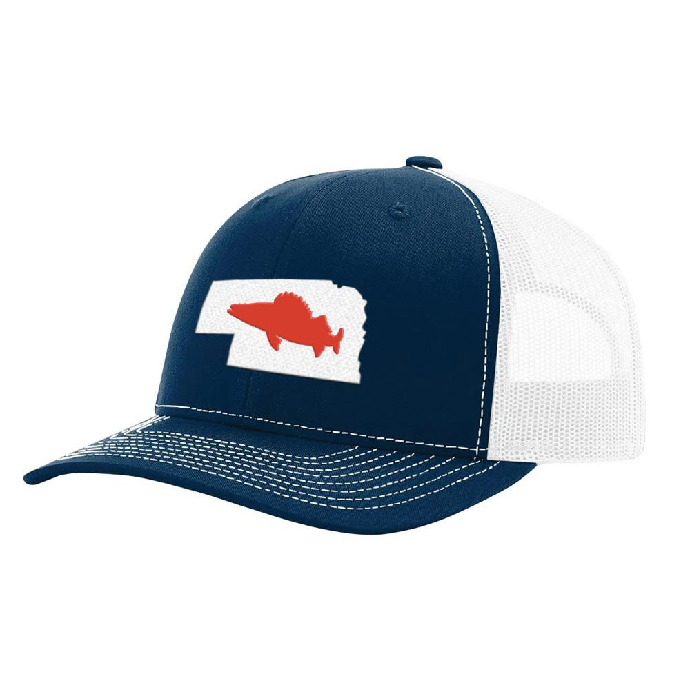 Nebraska Walleye Hat - Navy/White - Bucks of America