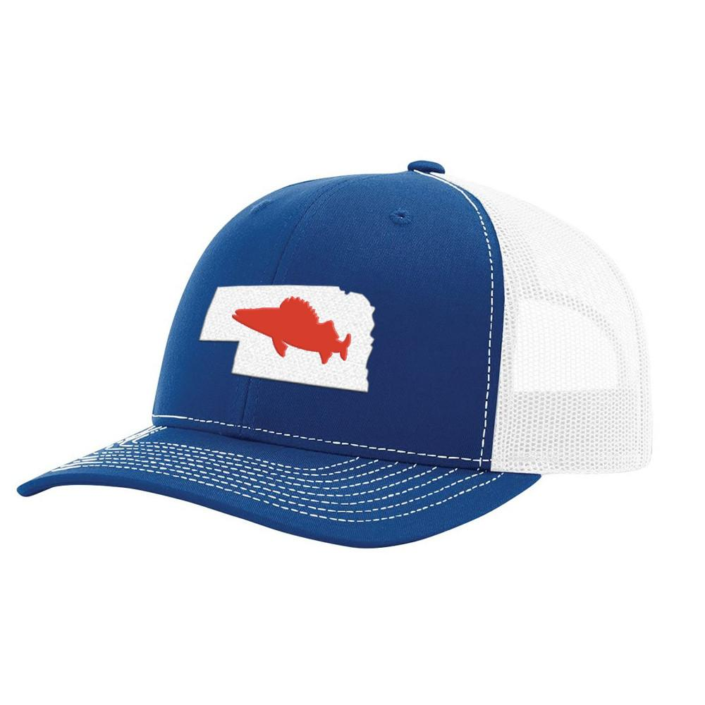 Nebraska Walleye Hat - Royal/White - Bucks of America
