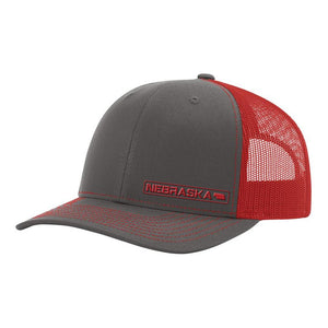Nebraska State Hat - Charcoal / Red