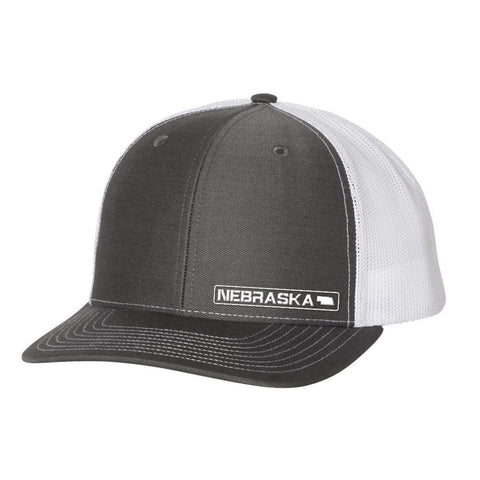 Nebraska State Hat - Charcoal / White