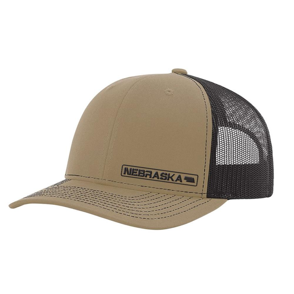 Nebraska State Hat - Khaki / Coffee