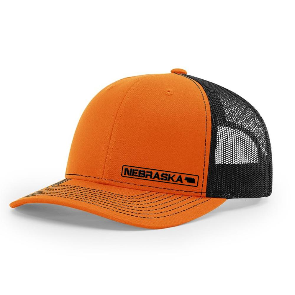 Nebraska State Hat - Orange / Black