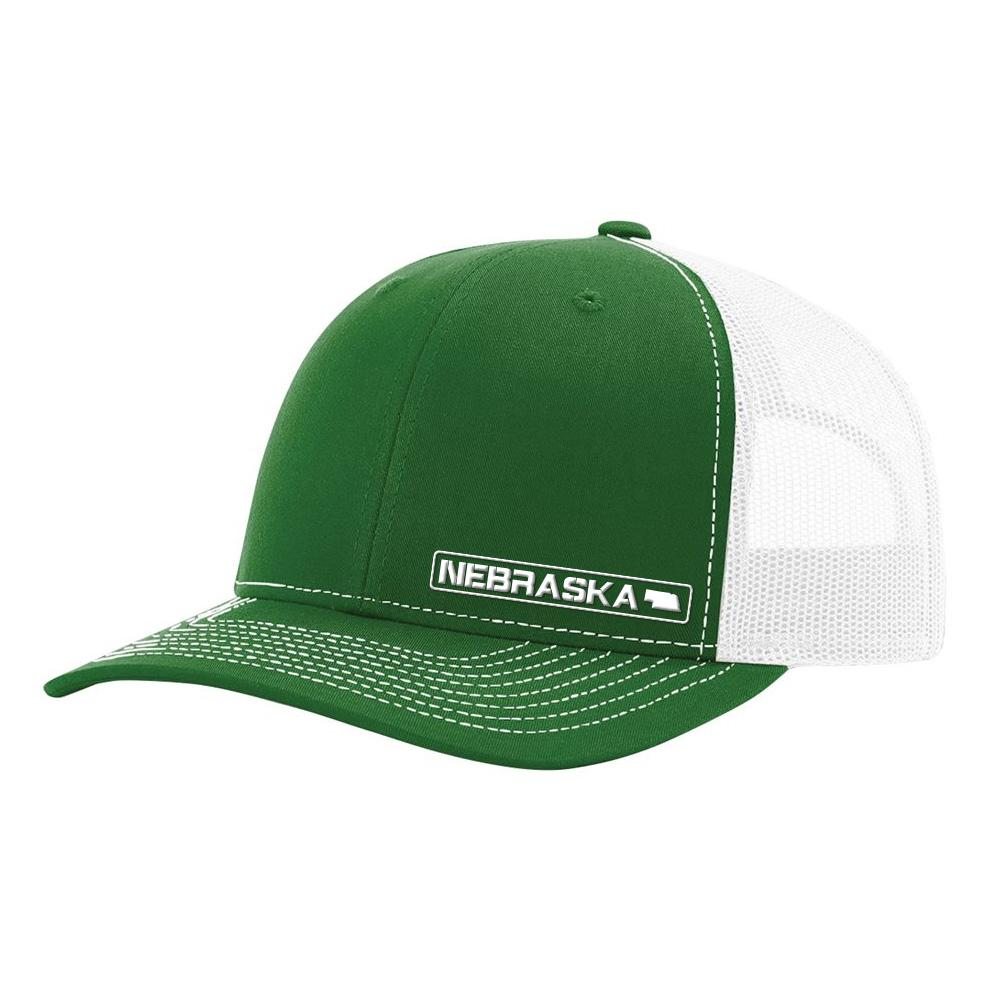 Nebraska State Hat - Green / White