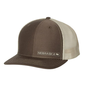 Nebraska State Hat - Brown / Khaki