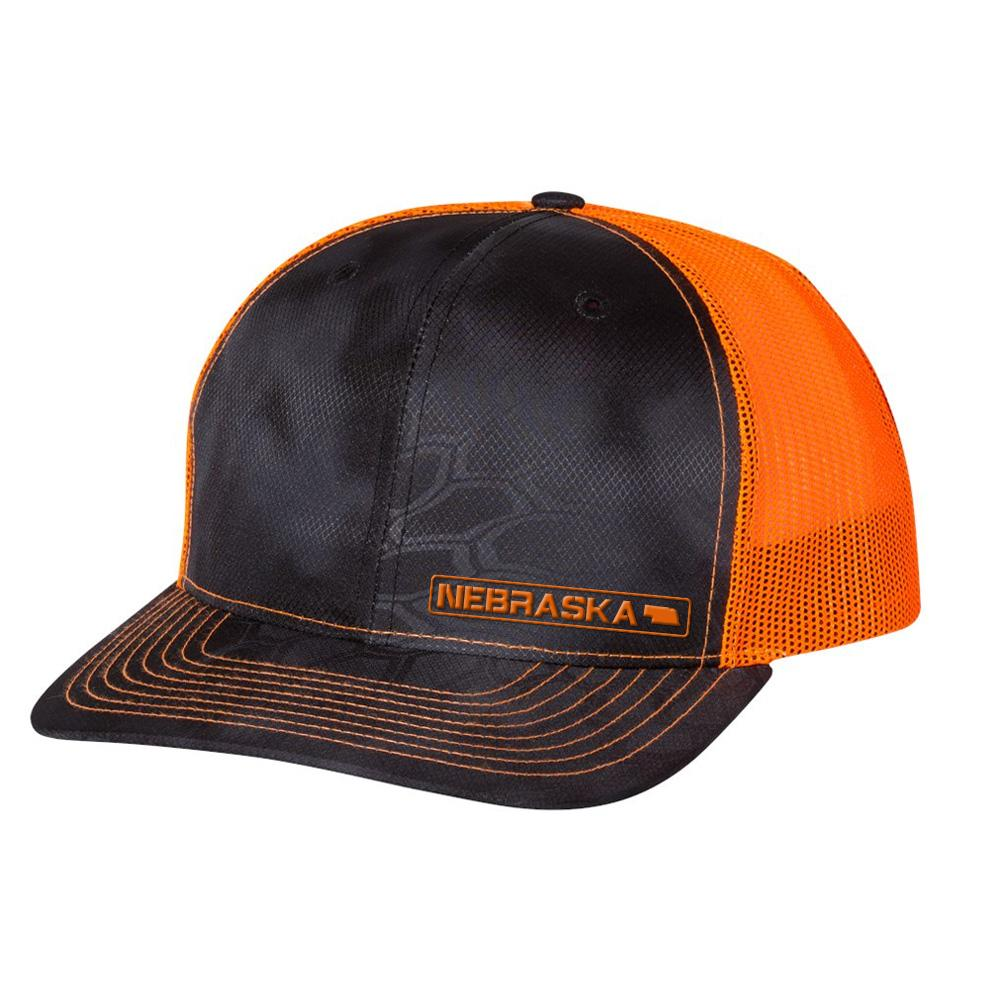 Nebraska State Hat - Typhon / Orange
