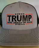 Make Liberals Cry Again Hat (Grey & Black)