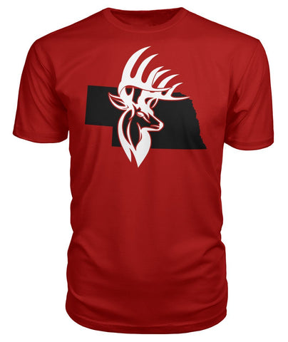 Bucks of Nebraska with Buck Head Premium Unisex Tee - Bucks of America