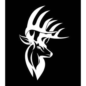 Bucks of America Buck Decal - White - Bucks of America
