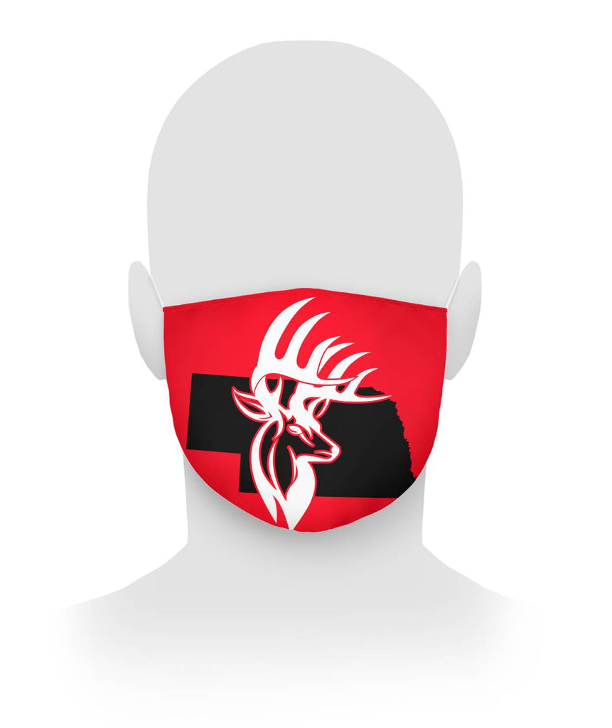 Nebraska Deer Face Mask Cloth Face Mask