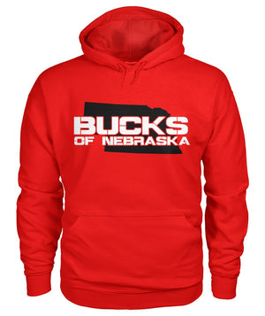 Bucks of Nebraska with State Gildan Hoodie - Bucks of America