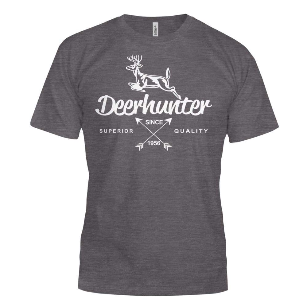 Deerhunter Classic Bella Canvas Tee - Dark Grey Heather / S - Short Sleeves
