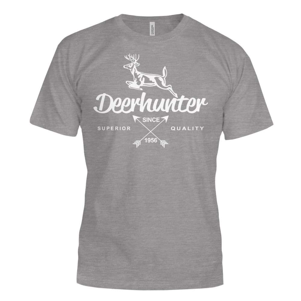 Deerhunter Classic Bella Canvas Tee - Deep Heather / S - Short Sleeves