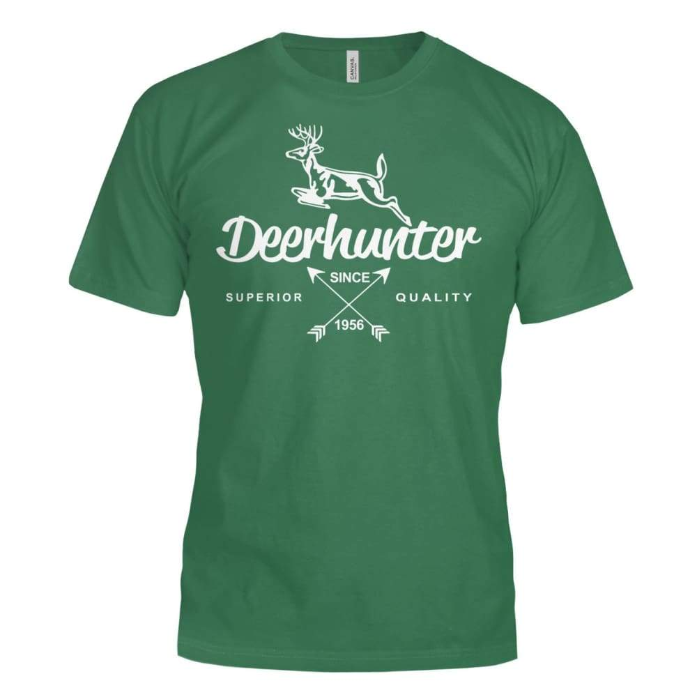 Deerhunter Classic Bella Canvas Tee - Evergreen / S - Short Sleeves