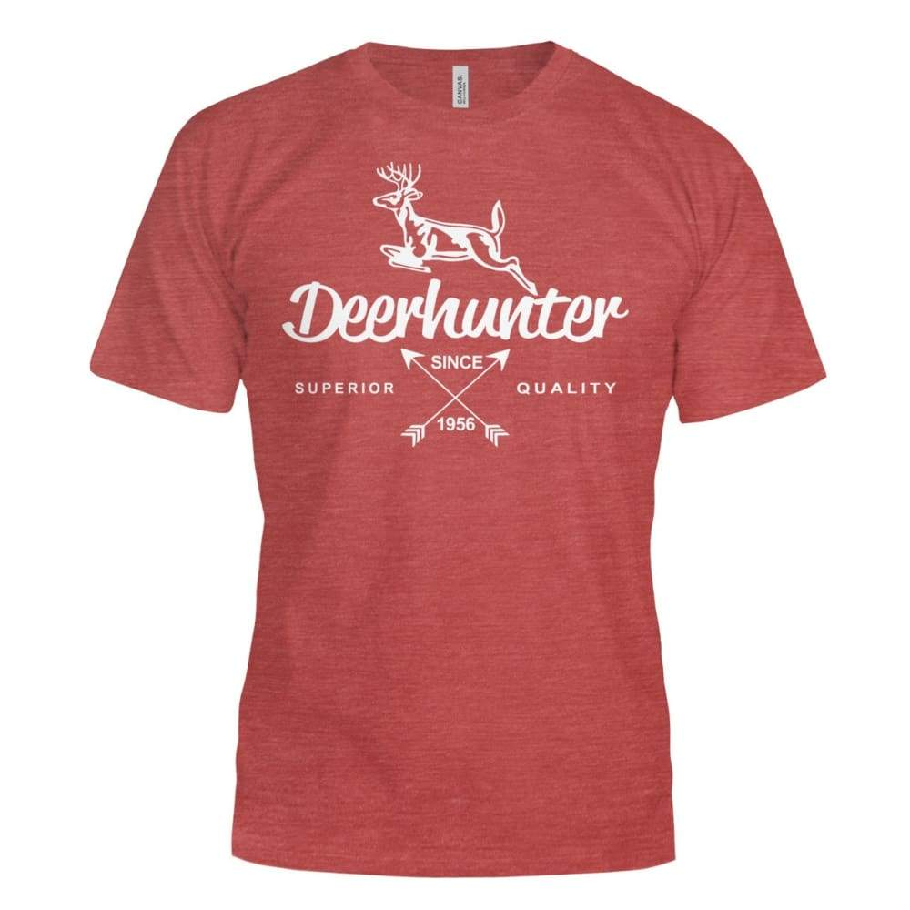 Deerhunter Classic Bella Canvas Tee - Heather Red / S - Short Sleeves