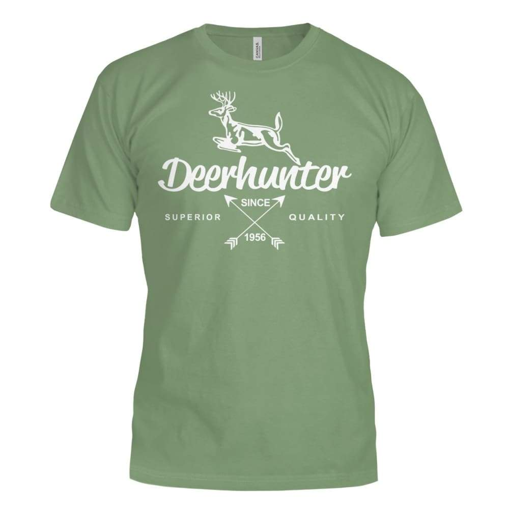 Deerhunter Classic Bella Canvas Tee - Leaf / S - Short Sleeves