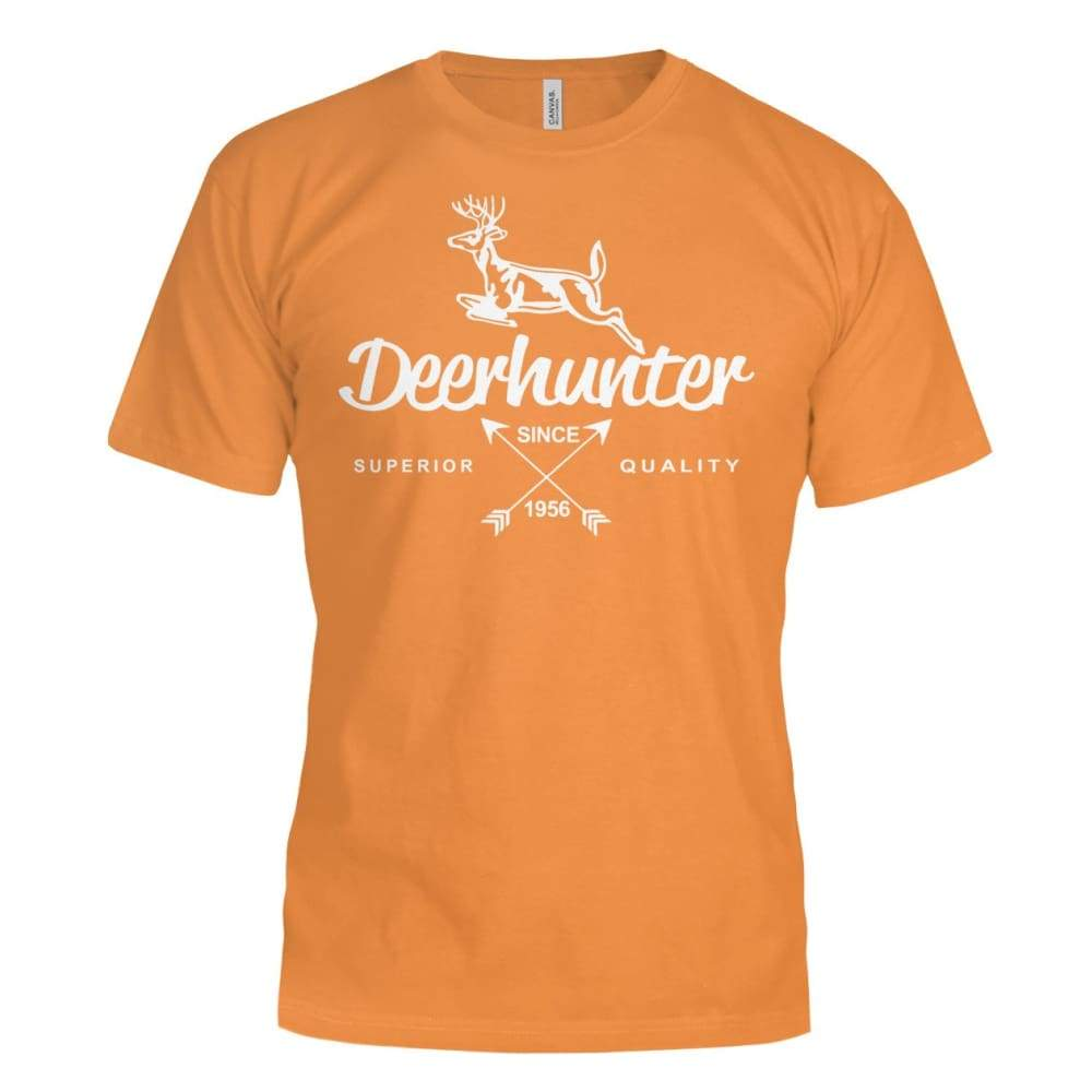 Deerhunter Classic Bella Canvas Tee - Orange / S - Short Sleeves